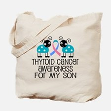 Thyroid Cancer Support Son Tote Bag