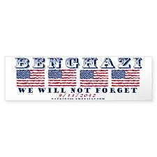 Benghazi - Never Forget (with Date) Bumper Bumper Sticker