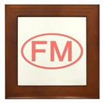 FM Oval - Micronesia Framed Tile