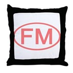 FM Oval - Micronesia Throw Pillow