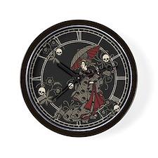 Gothic Geisha Wall Clock