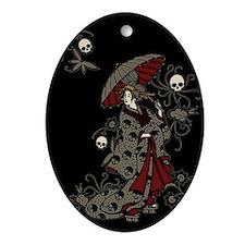 Gothic Geisha Ornament (Oval)