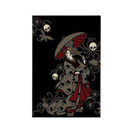 Gothic Geisha Rectangle Magnet