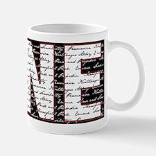 JANE BLK/WHT Mug