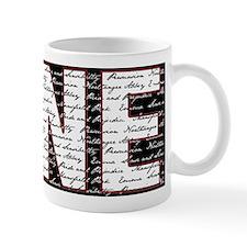 JANE BLK/WHT Small Mug