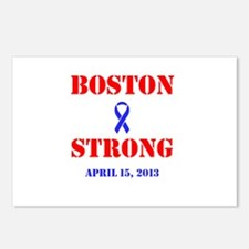 Boston Strong Red and Blue Postcards (Package of 8