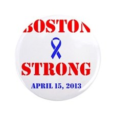 """Boston Strong Red and Blue 3.5"""" Button"""