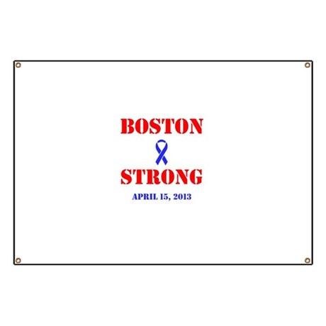 Boston Strong Red and Blue Banner