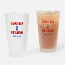 Boston Strong Red and Blue Drinking Glass