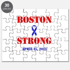 Boston Strong Red and Blue Puzzle