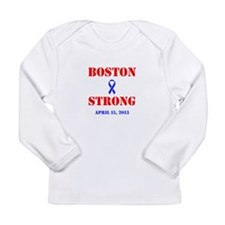 Boston Strong Red and Blue Long Sleeve T-Shirt