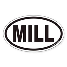 MILL Euro Oval Decal