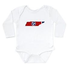 Tennessee Flag Long Sleeve Infant Bodysuit