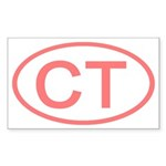CT Oval - Connecticut Rectangle Sticker