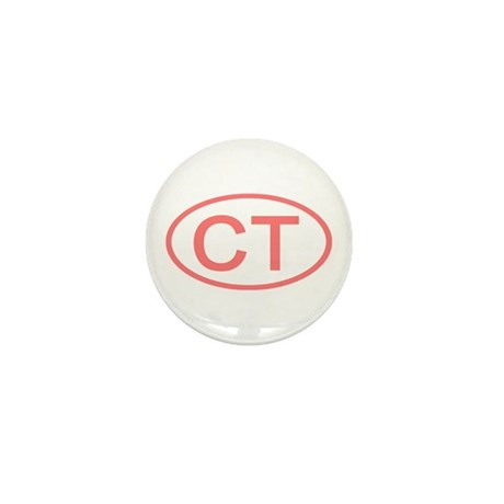 CT Oval - Connecticut Mini Button (100 pack)