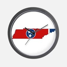 Tennessee Flag Wall Clock