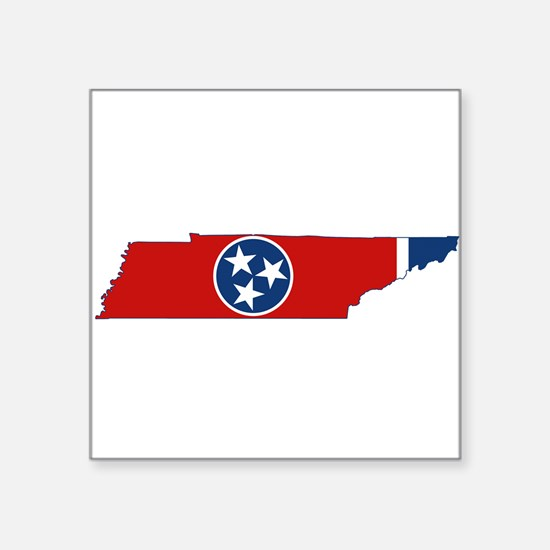 """Tennessee Flag Square Sticker 3"""" x 3"""""""