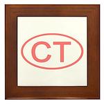 CT Oval - Connecticut Framed Tile