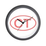 CT Oval - Connecticut Wall Clock