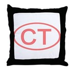 CT Oval - Connecticut Throw Pillow