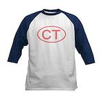 CT Oval - Connecticut Kids Baseball Jersey