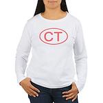 CT Oval - Connecticut Women's Long Sleeve T-Shirt