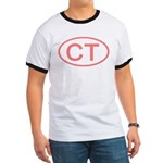 CT Oval - Connecticut Ringer T