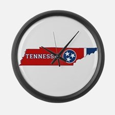 Tennessee Flag Large Wall Clock