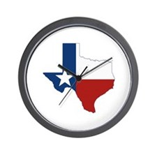 Texas Flag Wall Clock