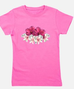 Floral Arrangement Girl's Tee