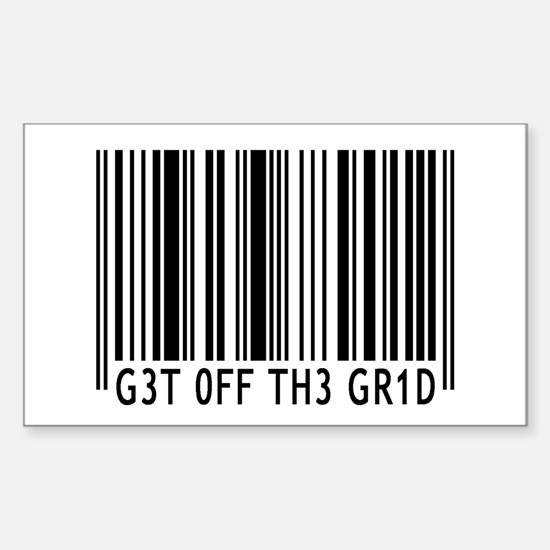 Get off the Grid | Sticker (Rectangle)