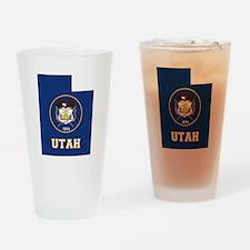 Utah Flag Drinking Glass