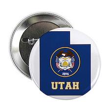"""Utah Flag 2.25"""" Button"""