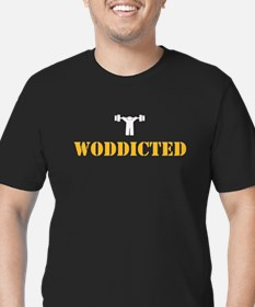 WODDICTED Men's Fitted T-Shirt (dark)