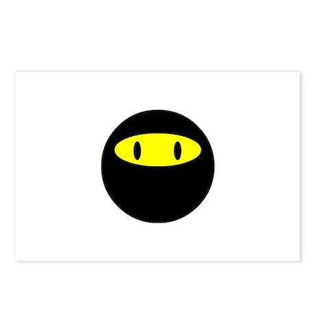 Ninja smily Postcards (Package of 8)