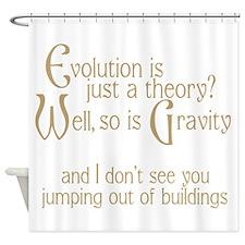 Evolutionary Theory Shower Curtain