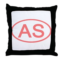 AS Oval - American Samoa Throw Pillow