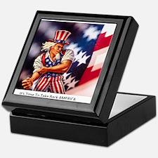 Time to take back America Keepsake Box