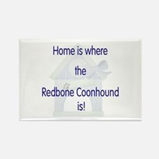 Home is where the Redbone Coonhound is Rectangle M