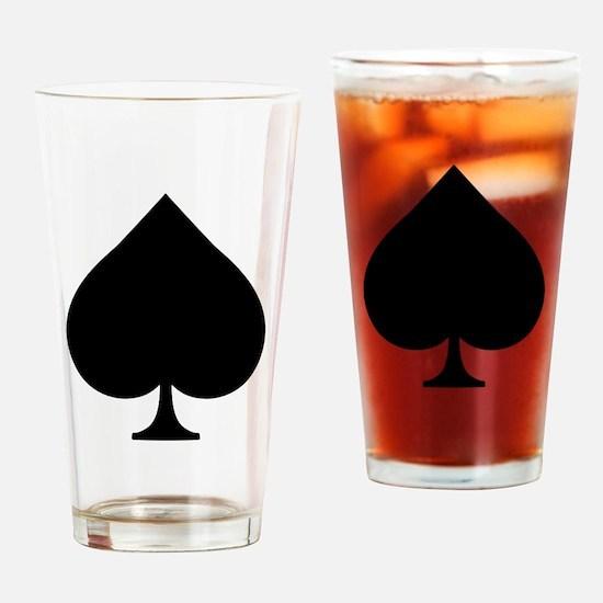 Spade Drinking Glass