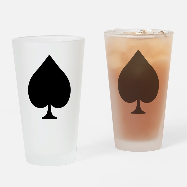 Spade Drinking Glass