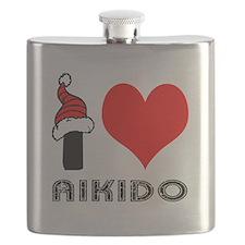 I Love Aikido Flask
