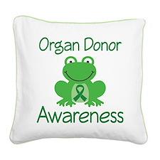 Organ Donor Awareness Square Canvas Pillow