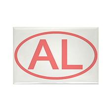 AL Oval - Alabama Rectangle Magnet