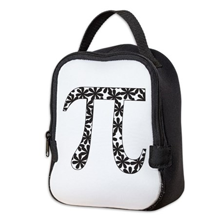 Floral Pi Neoprene Lunch Bag