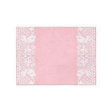 Light Pink Damask 5'x7'Area Rug