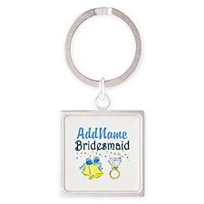 BRIDESMAID Square Keychain
