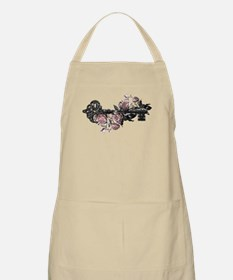 Gothic Key And Roses Apron