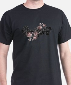 Gothic Key And Roses T-Shirt