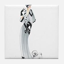 Margaret Bichon Frise.png Tile Coaster